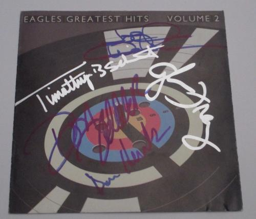 The Eagles Rare Signed CD Booklet Cover, The Greatest Hits Volume 2, Psa/dna!