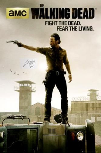 Chandler Riggs Signed The Walking Dead Full Size Poster – Season 3