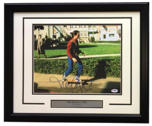 Michael J. Fox Signed Framed 11x14 Back To The Future Photo PSA U73126