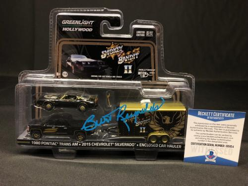 Burt Reynolds Signed Smokey And The Bandit Die Cast Pontiac Trans Am Set BAS