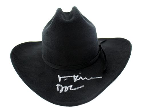 "b832efd14c1eb IMAGE 1 of 3. Val Kilmer Signed Tombstone Black Felt Hat With ""Doc""  Inscription"