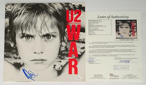 Adam Clayton Signed U2 War Record Album Jsa Loa Y61888
