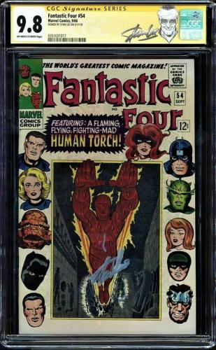 Fantastic Four #54 Cgc 9.8 Oww Ss Stan Lee Single Highest Graded #0351031017