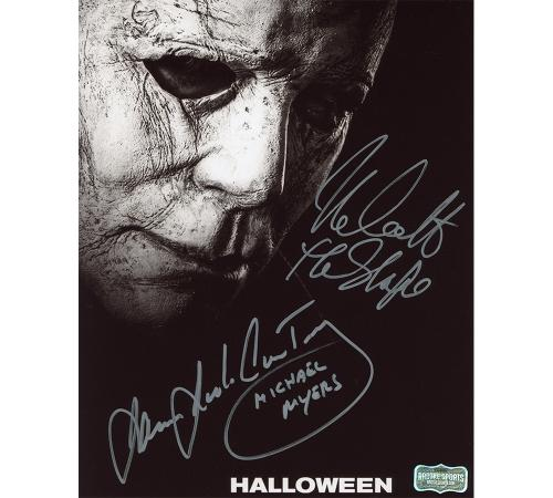 "James Jude Courtney ""Michael Myers"" and Nick Castle ""Michael Myers"" Signed Halloween 8×10 Photo"