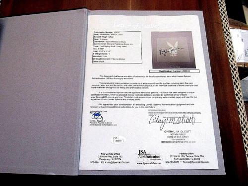 Hugh Hefner Playboy Forty Years 40th Of Playboy History Book Jsa Full Letter Gem