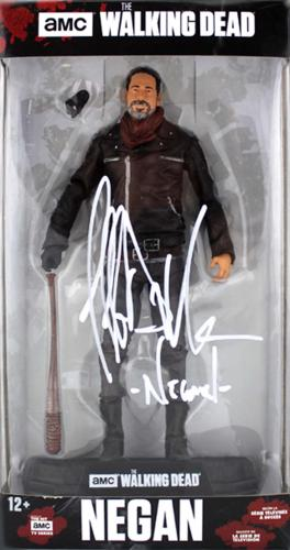 "Jeffrey Dean Morgan Signed The Walking Dead – McFarlane Toys – Boxed Action Figure with ""Negan"" Inscription"