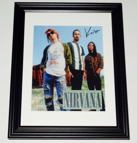Krist Novoselic Autographed 8x10 Color Photo (framed & Matted) - Nirvana!