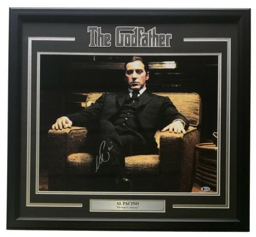 Al Pacino Signed Framed The Godfather Michael Corleone16x20 Photo Beckett BAS