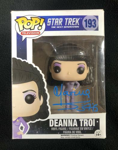 Marina Sirtis Signed Star Trek Next The Generation Deanna Troi Funko Pop Figure