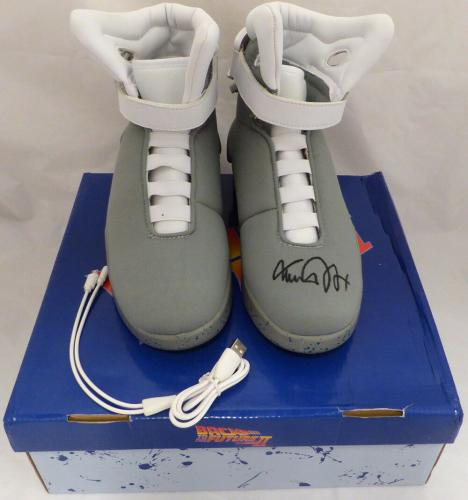 Michael J. Fox Autographed Back To The Future Air Mag Shoes Beckett BAS #D12931