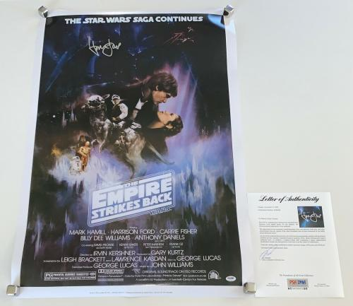 Harrison Ford Signed Star Wars The Empire Strikes Back 24x36 Movie Poster Psa