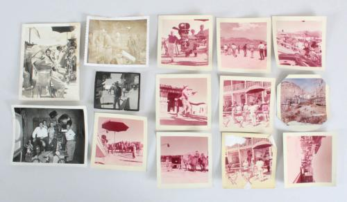 Rio Bravo Set Photos Lot (14) John Wayne, Dean Martin etc.