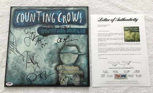 Counting Crows Band Autographed Signed Somewhere Under Wonderland Vinyl Psadna Entertainment Memorabilia Music