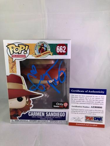 Gina Rodriguez Hand Signed Carmen Sandiego Funko Pop 662 PSA DNA CERT