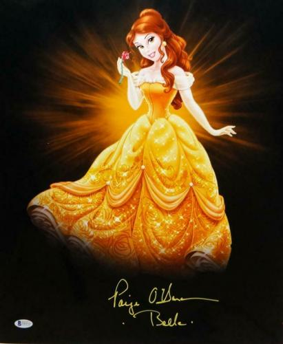 Paige O'Hara Belle Autographed 16x20 Beauty And The Beast Poster-Beckett Auth