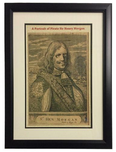 Pirate Captain Morgan Framed 11x14 Portrait Photo Bar Decor