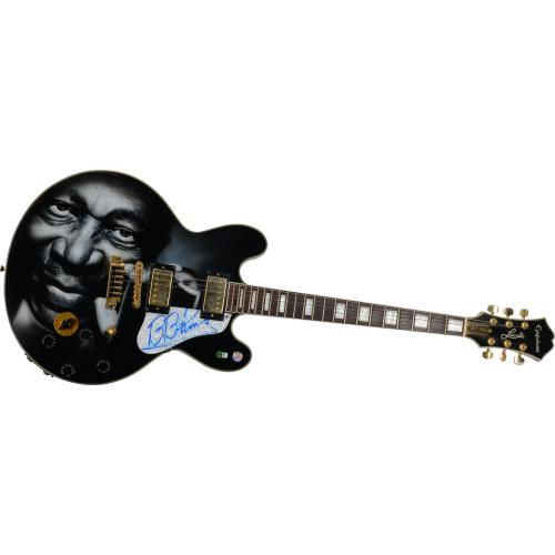 BB King Autographed Gibson Epiphone Lucille Guitar - PSA/DNA