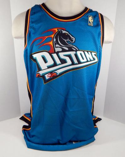 the best attitude 5e822 e6222 1996-97 Detroit Pistons Blank # Game Issued Teal Jersey 50 Seasons Patch  DP01041