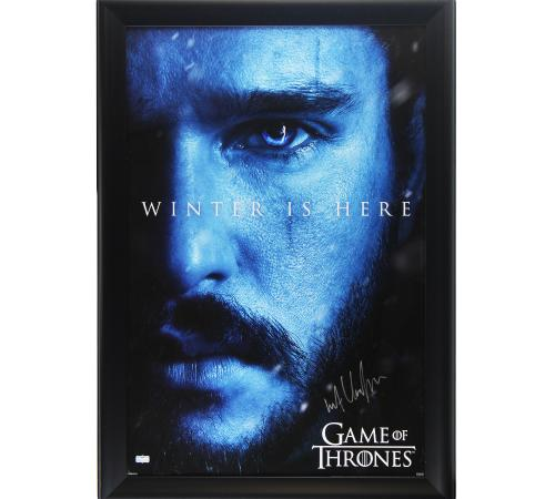 Kit Harington Signed Game of Thrones Winter is Here Framed Poster