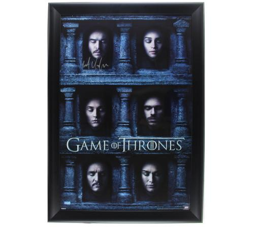 Kit Harington Signed Game of Thrones Framed Hall of Faces Poster