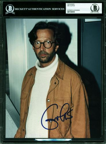 Eric Clapton Signed 8x10 Photo Autographed BAS Slabbed
