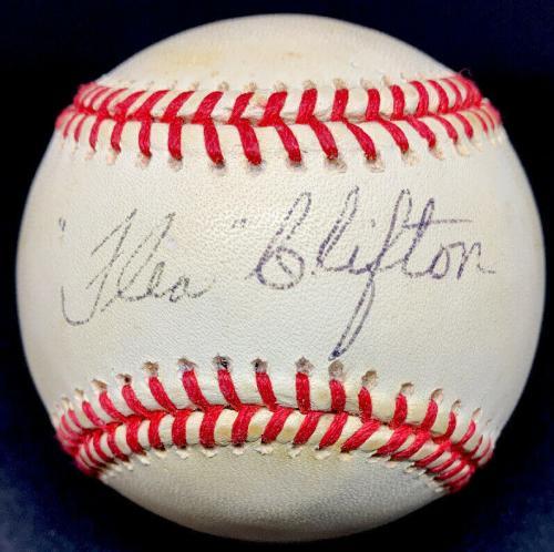 RARE Flea Clifton (Died 1997) PSA/DNA Autographed Baseball 1935 Detroit Tigers