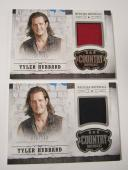 (2) TYLER HUBBARD 2014 Panini Country Music Musician Materials Relic Card #d/299
