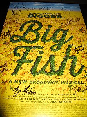 Big Fish Cast Signed Broadway Poster Windowcard Playbill In Person Proof Coa A