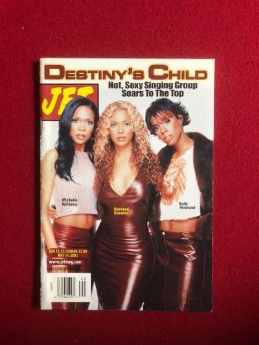 "2001, Beyonce, ""Destiny's Child"", ""JET"" Magazine (No Label) Early Cover (Scarce)"