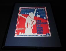 2001 Concert for NYC Framed 11x14 ORIGINAL Vintage Advertisement Billy Joel VH1