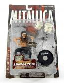 2001 McFarlane Lars Ulrich Metallica Harvesters of Sorrow Figure w/ Drum Kit NIP