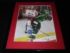 2001 NCAA Hockey Championship North Dakota Boston College Framed Photo Display