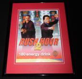 2001 Rush Hour 2 180 Energy Drink Framed 11x14 ORIGINAL Vintage Advertisement