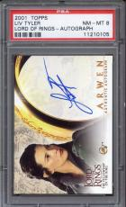 2001 Topps Lord of the Rings Autograph Liv Tyler Arwen PSA 8
