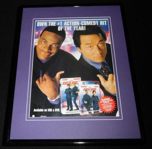 2002 Rush Hour 2 11x14 Framed ORIGINAL Advertisement Jackie Chan