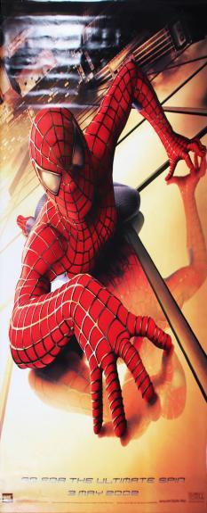 2002 Spider-Man Movie Banner Vinyl Poster 59.5″ x 96″