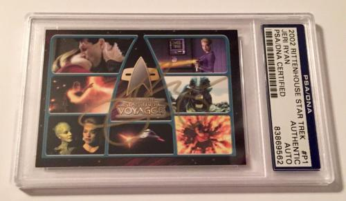 2002 Star Trek Voyager Jeri Ryan Seven Of Nine Signed Auto Card PSA/DNA Slabbed
