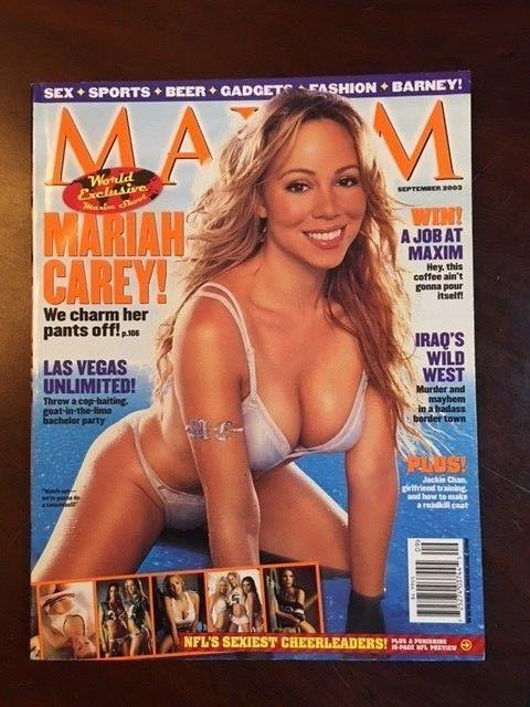 "2003, Mariah Carey, ""MAXIM"" Magazine (No Label) (Early Mariah)"