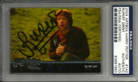 2004 Artbox Rupert Grint HARRY POTTER Signed Trading Card PSA/DNA Slabbed #142