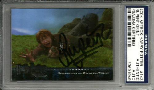 2004 Artbox Rupert Grint HARRY POTTER Signed Trading Card PSA/DNA Slabbed #143