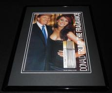 2004 Donald Trump The Fragrance w/ Melania Framed 11x14 Vintage Advertisement
