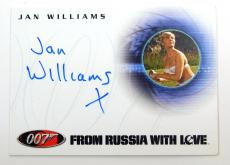 2004 Rittenhouse The Quotable James Bond Autographed Card (A40) Jan Williams