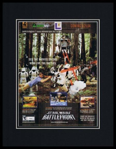 2004 Star Wars Battlefront Framed 11x14 ORIGINAL Advertisement