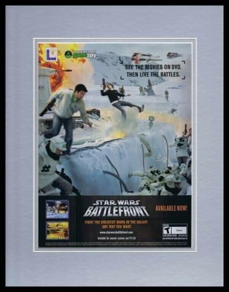 2004 Star Wars Battlefront Framed 11x14 ORIGINAL Vintage Advertisement