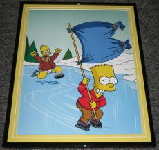 2007 The Simpsons Bart Steals Homer's Pants Framed 10x13 Poster Photo