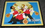 2007 The Simpsons Be Sharps Framed 10x13 Poster Photo