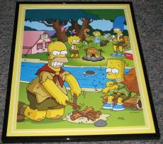 2007 The Simpsons Camping Framed 10x13 Poster Photo