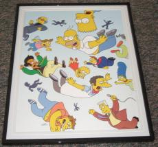 2007 The Simpsons Falling Framed 10x13 Poster Photo