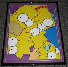2007 The Simpsons Family Framed 10x13 Poster Photo