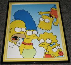 2007 The Simpsons Family Portrait Framed 10x13 Poster Photo